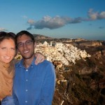 Honeymoon in Santorini, Greece