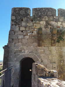 Tower that is part of the stone wall of Tarquinia