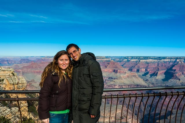 Daniele and Kait at the South Rim of Grand Canyon Nation Park, Arizona, USA
