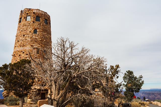 Desert View Watchtower, South Rim of Grand Canyon Nation Park, Arizona, USA