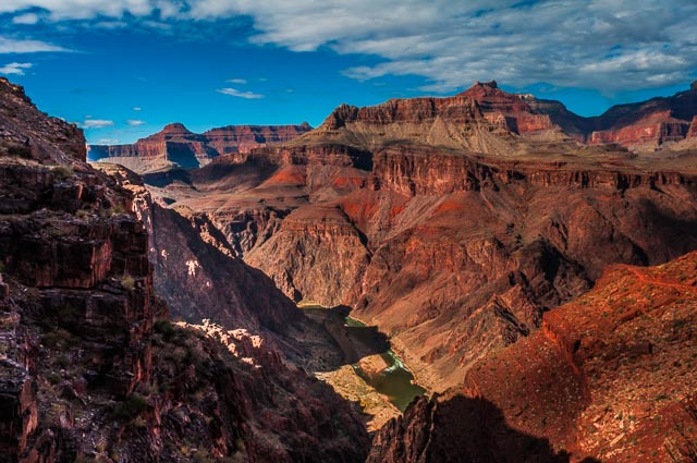 The Colorado River, South Kaibab Trail down the South Rim of Grand Canyon National Park, Arizona, USA