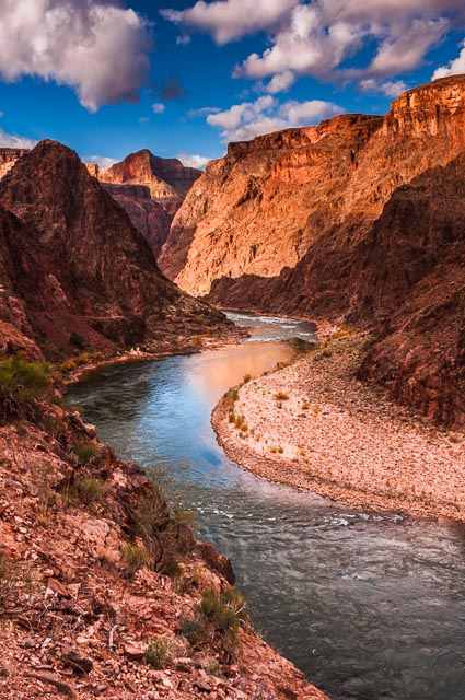 The Colorado River at the bottom of the Grand Canyon Nation Park, Arizona, USA