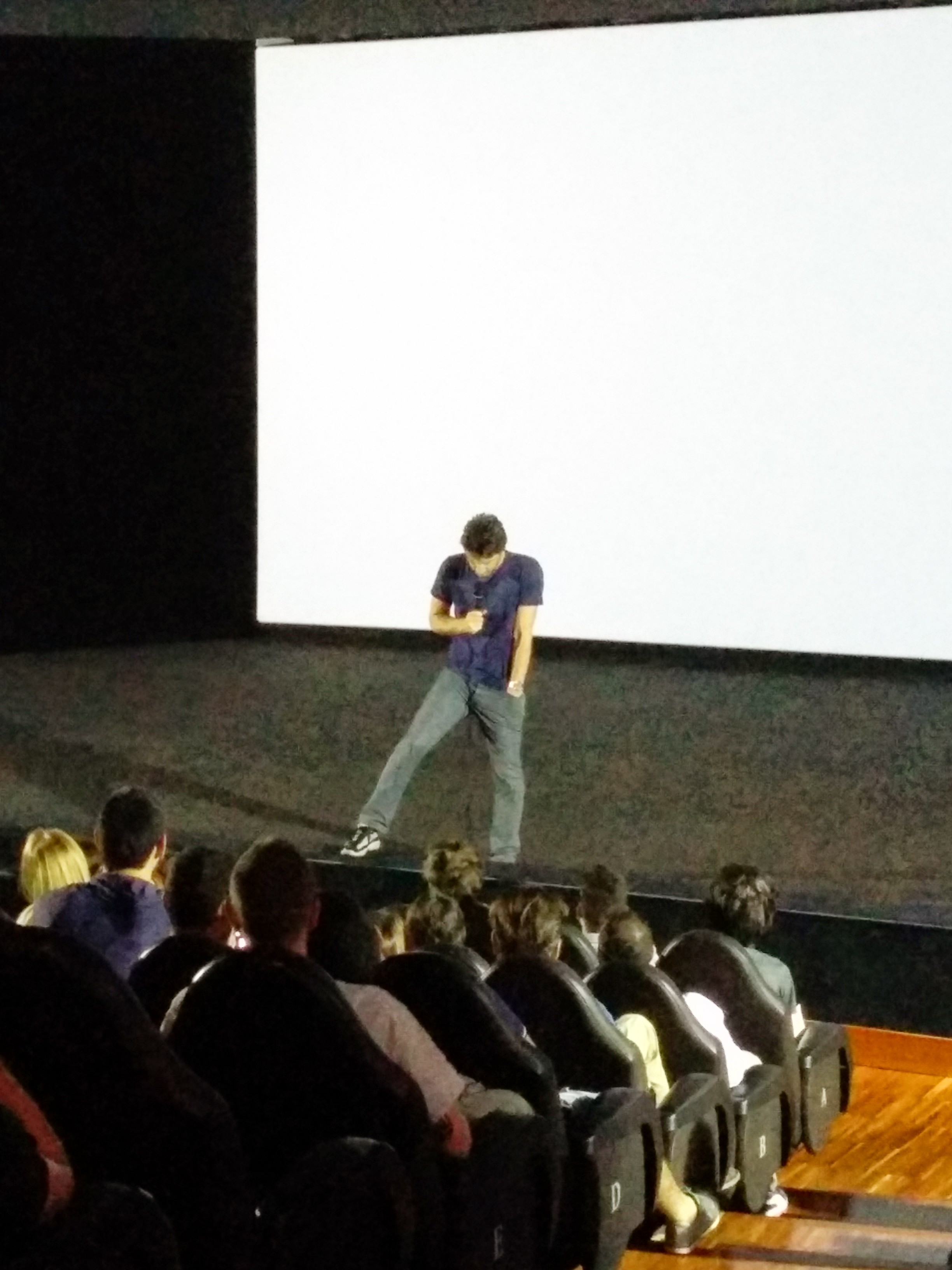 Zach Braff taking questions at the Italy Premiere of Wish I Was Here
