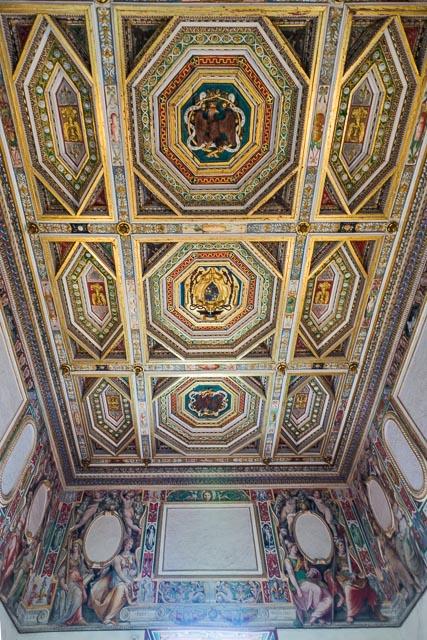 Ceiling in Villa d'Este in Tivoli, Lazio, Italy