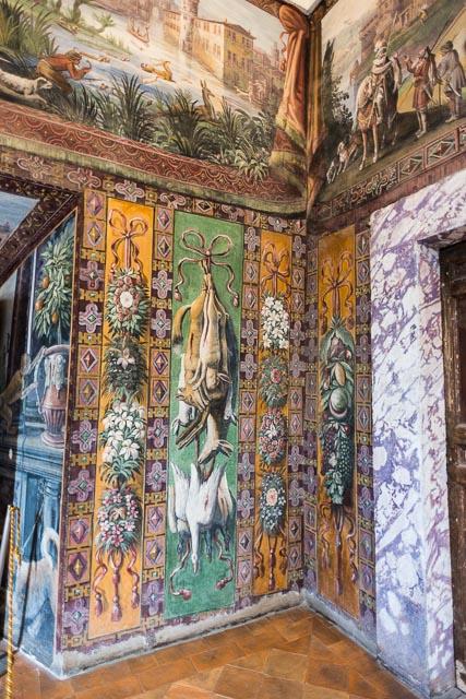 """""""Sala della Caccia"""" or The Hunting Room in Villa d'Este in Tivoli, Lazio, Italy"""