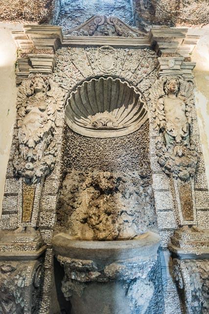 """A """"Fontanina Rustica"""" fountain in Villa d'Este in Tivoli, Lazio, Italy"""