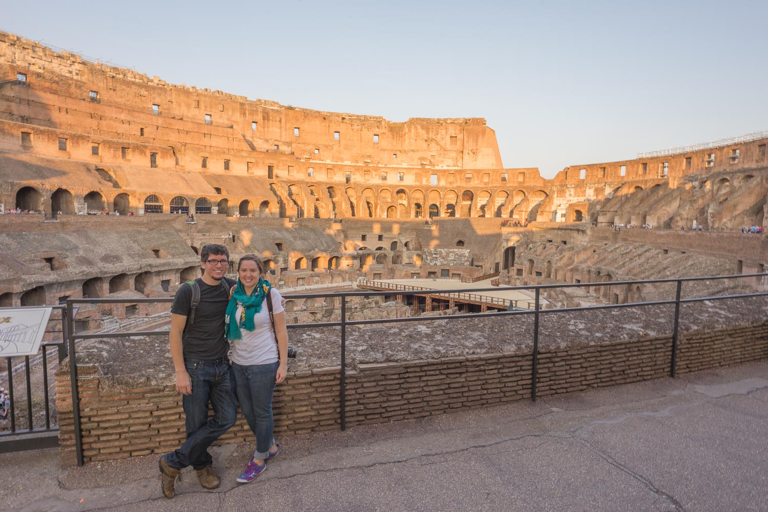 Tom and Alison in the Colosseum, Rome