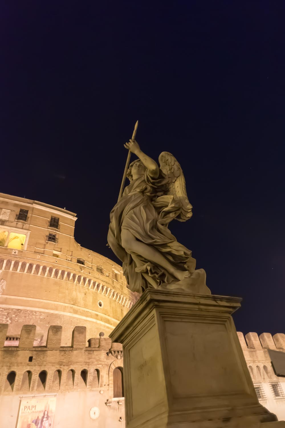 Castel Saint Angelo at night, Rome, Italy